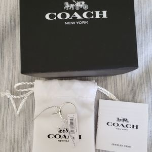 Coach simple band ring size 6 sterling silver